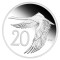 2009 P Australia Silver 20 Cent Proof Black Swan - Tribute to 1966 Decimal Pattern