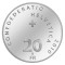 2010 B Swiss Silver 20 Francs 100 Years of the Bernina Railway