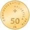 2010 B Swiss Gold 50 Francs 100th Anniversary of Albert Anker's Death