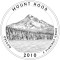 2010 Mount Hood National Forest, Oregon Quarter Dollar (line art design)