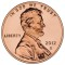 2012 D Lincoln Cent Uncirculated (Shield Reverse)