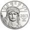 2013 W American Platinum Eagle Proof 1 ounce $100 (Young America reverse)