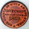 1869 Whitney Bros. Glass Works, New Jersey one cent Token