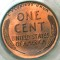 1917 Lincoln Cent Red